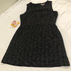 BANANA REPUBLIC Black Tweed Career Dress 12P